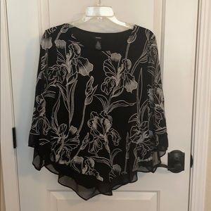 Alfani Black Flowing Shirt.